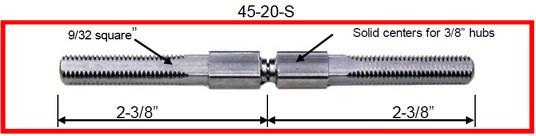 door hardware, Progressive Hardware Co Inc Knob Spindles 20 Thread